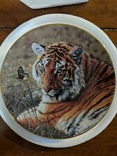 Hamilton collector plates Daydreaming Tiger Plate