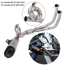 Motorcycle Full Exhaust Round Steel Front Link Pipe for Yamaha MT-07/FZ-07 14-17