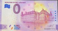 BILLET 0  EURO SCHLOSS DYCK JUCHEN  ALLEMAGNE 2021 NUMERO SUITE 1314