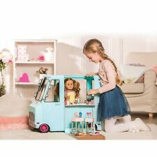 LARGE ICE CREAM TRUCK - OUR GENERATION DOLLS PLAYSET VAN - LIGHTS SOUND TOY GIFT