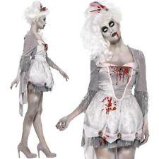 Ladies Halloween Zombie Georgian Lady Fancy Dress Costume Womens Outfit Smiffys