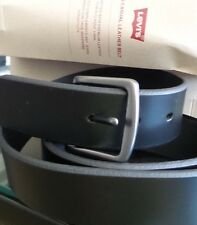 New BLACK Levi's Men's Casual Leather Belt Handcrafted Premium Leather SIZE 38