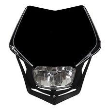 Race Tech V-Face Full LED Motorbike Universal Headlight Black suit KTM