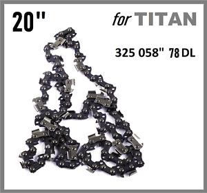 "20"" Chainsaw Saw Chain for TITAN TTL760CHN 325 058 78DL"