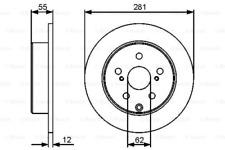 2x Bremsscheibe für Bremsanlage Hinterachse BOSCH 0 986 479 419