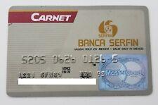 MEXICO - EXPIRED - CREDIT CARD - MASTERCARD - SERFIN BANK - 1993 - OLD & RARE