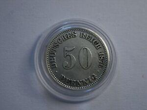 Kaiserreich  50 Pfennig  1876 A  Silber !!