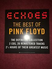 """1 Pink Floyd Echoes Thick Promo Poster Flats 12"""" x 12"""" Record store display"""