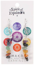 Crystal Chakra Balancing Earrings Reiki Spiritual Natural Healing Gemchip Pagan