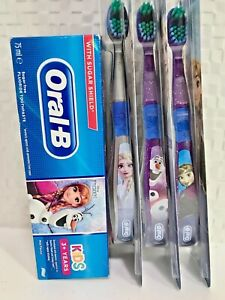 Oral B Disney Frozen Toothpaste(75ml)  + Choice of Character Toothbrush (3+ Yrs)