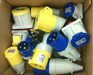 Defender Plugs & Sockets 110v/240v 13a/16a/32a Electrical Industrial Yellow Blue