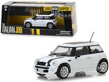 2003 MINI COOPER WHITE THE ITALIAN JOB (2003) 1/43 DIECAST CAR GREENLIGHT 86548