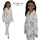 ELENPRIV FA-025 White night-suit pajamas for Barbie MTM and similar size dolls