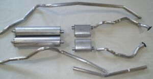 1961 FORD GALAXIE CONVERT. DUAL EXHAUST, 304 STAINLESS, W/352-390, NO RESONATORS