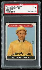 1933 Sport Kings #13 Laverne Fator *Jockey* PSA 7 NM Cert #23748360