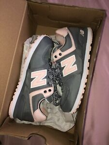 size 3 youth new balance gray and pink