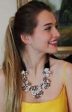 Kate Spade Meadowsweet Statement Necklace Wildflower cluster silver stud earring