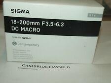 Sigma 18-200mm F3.5-6.3 DC Macro OS HSM NEW Contemporary Lens for SONY CAMERAS