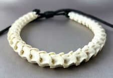 Rare Snake Bone Skeleton adjustable cotton rope bracelet good luck powerful S Sz