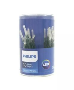 Warm White battery operated 18 lights LED PHILIPS NEW