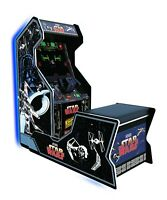 Star Wars Arcade 1up Home Cabinet Arcade Free Adapters Lighted Marquee Chair New