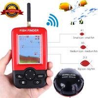 Portable Color LCD Smart Fish Finder Detector Sonar Sensor Depth Sounder Alarm