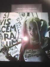 Margot Robbie Suicide Squad Hand Signed Photo w/COA 8x10