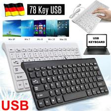 PC Computer Mini Tastatur Keyboard Laptop USB  für Desktop Mac Maus Bluetoot