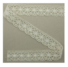 0,5 Meter Spitze Weiß elastisch 22cm breit Borte Cg