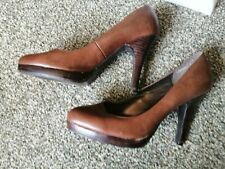 New look brown stiletto shoes size 8