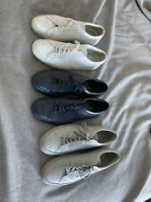 3 X COMMON PROJECTS Original Achilles Low Top Sneakers White/Grey/Navy 43 10 US