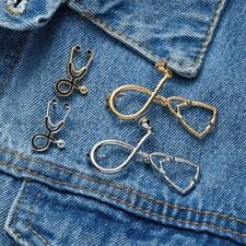 Pin Jewelry Badge Collar Button Doctor Nurse Stethoscope Medical Enamel Brooch