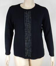 NEW Black Pepper Black Soft Stretch Long Sleeve Top Tunic Plus Size 20 BNWT #S57