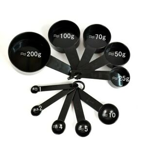 5/10Pcs Plastic Measuring Cups and Spoons for Baking Tea Coffee Kitchen Tool Set