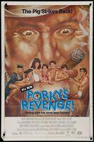 PORKY'S REVENGE Wayne Knight ORIGINAL 1985 ONE 1 SHEET MOVIE POSTER 27 x 41
