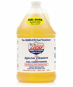 LUCAS 10013 LUBRICANT FUEL TREATMENT 1 GAL UPPER CYLINDER W/INJECTOR CLEANERS