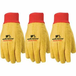 X-Large BOSS MANUFACTURING 4037J//4032J 656493 Cotton//Poly Chore Glove Flannel Flannel Yellow