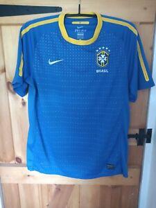 "BRAZIL 2010-11 AWAY FOOTBALL SHIRT BY NIKE SIZE LARGE 42/44"""