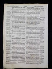 1597 GENEVA BIBLE LEAF ISAIAH 40:31 & 41:10 * WINGS OF EAGLES / FEAR NOT *  VGC