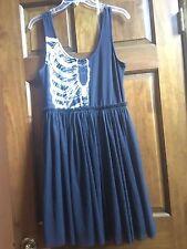 NWT Iron Fist Goth Black Dress With Crinoline Skirt M