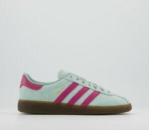 Adidas Originals Munchen Green/Pink  Trainers UK 10