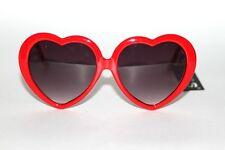New 50's Vintage Style Designer Gray Lenses Red Heart Frame Women Sunglasses