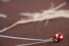 Red Bola Pendant Fine Sterling Silver Pregnancy Harmony Ball Shipping Included
