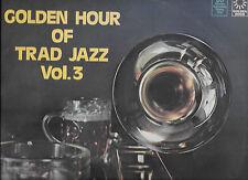 "Golden Hour Of Trad Jazz Vol 3 1977 LP 12"" 33rpm UK rare mono vinyl record (g-)"