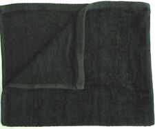 New Pack of 6 Black Beach Towels 30x60 - Velour Finish - Solid Color Pool Towel