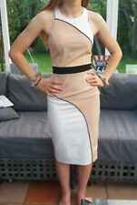 🔥🔥🔥👗RIVER ISLAND Sexy Bodycon Nude Fitted Dress Uk8 🔥🔥🙌💃