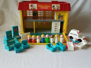 Vintage Fisher Price Children's Hospital Little People 931 c1976-78 COMPLETE!