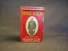 Old Vtg Prince Albert Crimp Pipe smoke Cut Red Tobacco Tin Made in NC
