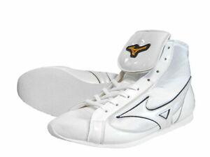 Mizuno Boxing Shoes Short Pearl white × Black Made in JAPAN BTO free shipping JP