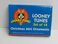Looney Tunes Mini Holiday Christmas Ornaments Set of 18 Bugs Sylvester Tweety